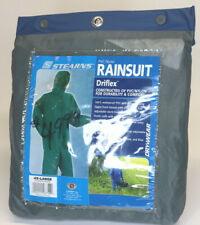 NEW Rain Gear Jacket/Pants DRIFLEX Stearns SZ 4XL Nylon HD Rainsuit Forest Green