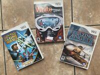 WII Nintendo Lot of 3 Complete Games ~Snowboarding, Star Wars & Blazing Angels