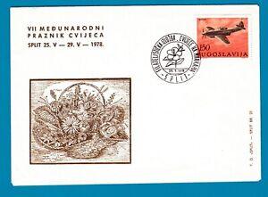 Yugoslavia 1978 Anniv. of Split Airplane FDC.