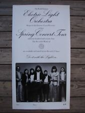 RARE VINTAGE ELECTRIC LIGHT ORCHESTRA ELO 1974 U.S SPRING TOUR POSTER JEFF LYNNE
