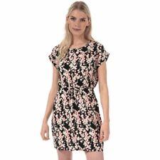Women's Vero Moda Simply Easy Riley Short Sleeve Floral Dress in Black
