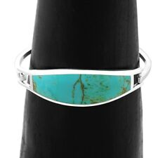 Artisan Turquoise Crescent Cuff Bracelet from Taxco Mexico