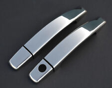 Chrome Door Handle Trim Set Covers To Fit Vauxhall / Opel Corsa D 2dr (2007-14)