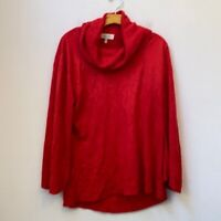 SHERRY TAYLOR SOLID RED SWEATER SIZE XL