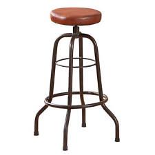 Barhocker Bar-Stuhl Metallhocker Hocker Stuhl Bar Ledersitz Tresenstuhl schwarz