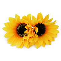2 Pcs Hawaiian Sunflower Flower Hair Clip Hairpins for Women Hair Decroration