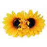 2 Pcs Hawaiian Sunflower Flower Hair Clip Hairpins for Women Hair Decroration