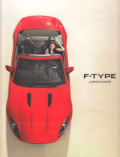 JAGUAR F-TYPE ROADSTER Sportscar 24x28cm Prospekt Brochure Pressemappe /G
