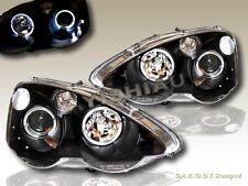 2002 2003 2004 Acura RSX Projector Headlights Black Halo LED
