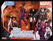 "2013 HASBRO MARVEL UNIVERSE 3-PACK WEST COAST AVENGERS TEAM 3 3/4"" FIGURES MIB"