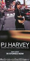 PJ Harvey 2000 Stories, City, Sea Original Double Sided Perforated Promo Poster