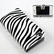 Magnetic Flip stand PU Leather ID Card Wallet Case Cove For Apple iPhone 4 4S 4G