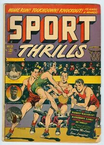Sport Thrills #13 May 1951 VG- Jackie Robinson, Pee Wee Reese