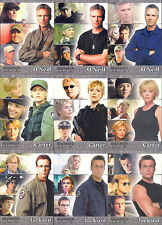 STARGATE HEROES 2009 RITTENHOUSE ARCHIVES COMPLETE BASE CARD SET OF 90 TV