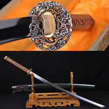 TOP QUALITY JAPANESE SAMURAI DRAGON SWORD KATANA KIRIHA-ZUKURI FULL TANG BLADE