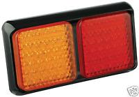 PAIR LED COMBO LIGHTS TRUCK TRAILER CARAVAN UTE 80BARM - Multivolt