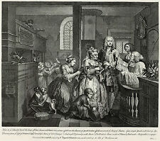 Hogarth Print Reproduction: A Rake's Progress: Married, Plate 5: Fine Art Print