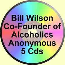 BILL WILSON FIVE VERY GOOD ALCOHOLICS ANONYMOUS TALKS ON 5 CDs ALANON EBBY AA
