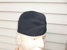 WWII US Navy Officer Hat Overseas Blue Garrison Cap USN WW2