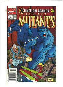 New Mutants #96 VF/NM 9.0 Newsstand Marvel 1990 X-Tinction Agenda, Rob Liefeld
