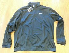 bf7486a64 NIKE GOLF QUARTER ZIP JACKET MENS BLACK SIZE LARGE 428887 010 THERMA-FIT