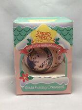 Vintage Precious Moments Glass Christmas Ornament 1994 1995 Enesco Pink 189812