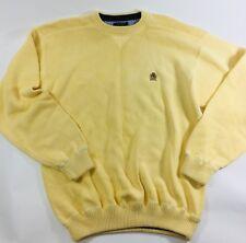 Tommy Hilfiger Vintage Flag Logo Men's size Large light yellow heavy Sweater