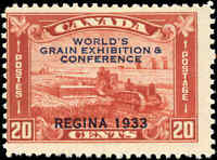 Mint Canada 1933 F Scott #203 20c Grain Exhibition Stamp Hinged