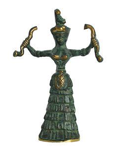 Snake Goddess Bronze small sculpture - Minoan period - Palace of Knossos Replica