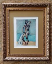 PABLO PICASSO ORIGINAL 1948  SIGNED AWESOME PRINT MATTED 11 X 14 + LIST  $995