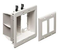 Arlington TVBU505-1 Recessed TV Box Wall Plate Kit Paintable 2-Gang, White