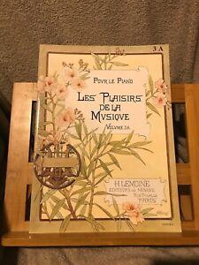 Les Plaisirs de la musique volume 3A partition piano éditions Lemoine