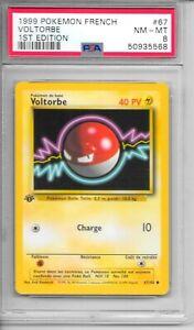 Pokemon PSA 8 NM-MT FRENCH 1999 1st Edition Base Voltorbe  (Voltorb) #67  NEW