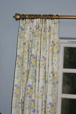 NEW VINTAGE LAURA ASHLEY Charlotte Sweet Pea ONE Curtain LINED DESIGNER MADE