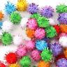 100Pcs Mini Sparkly Glitter Tinsel Pompom Ball Small Pom Ball Pet Cat Funny Toys