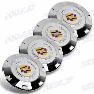 Chrome 7 Inches Center Caps Cadillac Seville Eldorado Deville Wheels Set of 4