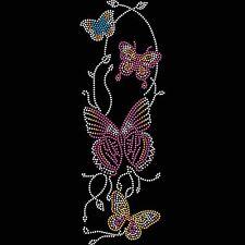 Twisted ENVY cadena en mariposas diseño de cristal de Hierro Camiseta Transferir