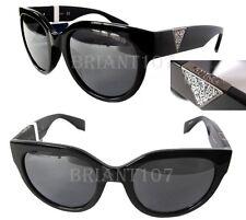 New GUESS GU7439 Black/Gray mirror w/crystals Womens Sunglasses $80-tiny defect