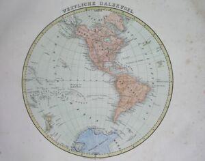 1848 ORIGINAL MAP AMERICA UNITED STATES CANADA CUBA ARGENTINA MEXICO HAWAII PERU