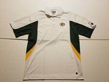 GREEN BAY PACKERS Men's Large NFL TEAM APPAREL Football Poly Golf Polo Shirt