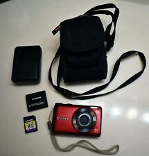 Canon PowerShot A2200 14.1MP Digital Camera - Red - Bundle