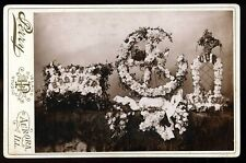 Antique 1880's 1890 Funeral Memorial Display Cabinet Card Photo Perry Studio #2