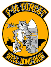 Us Navy F-14 Tomcat Sticker Well Done Baby