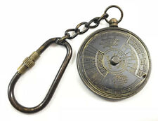 50 Pcs Antique Brass 50 Year's Perpetual Calendar Keychain Vintage Brass Keyring