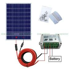100Watt System:100W PV Solar Panel for 12V RV Home Camping Electrical Battery