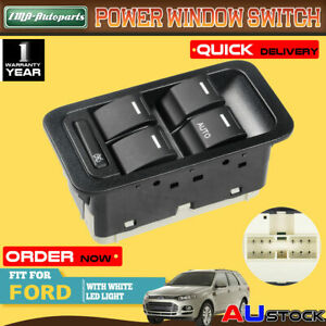5 Buttons Electric Master Window Switch for Ford Territory Illuminated 13 Pins