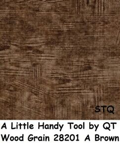 A Little Handy Tool cotton Quilt fabric by QT Wood Grain 28201 A Brown