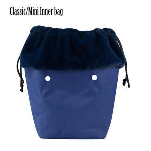 Winter O Bag Classic Mini Plush Fur Organizer Drawstring Inner for Obag Handbag