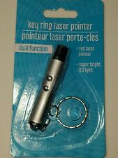New ListingKey Ring red Laser Pointer dual function flashlight, Cat Dog Pet Toy New