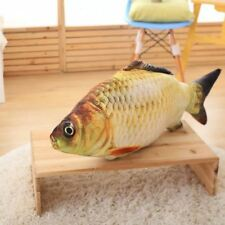 Big Fish Shape Decorative Cushion Throw Pillow with Inner Home Decor Cartoo S3G7